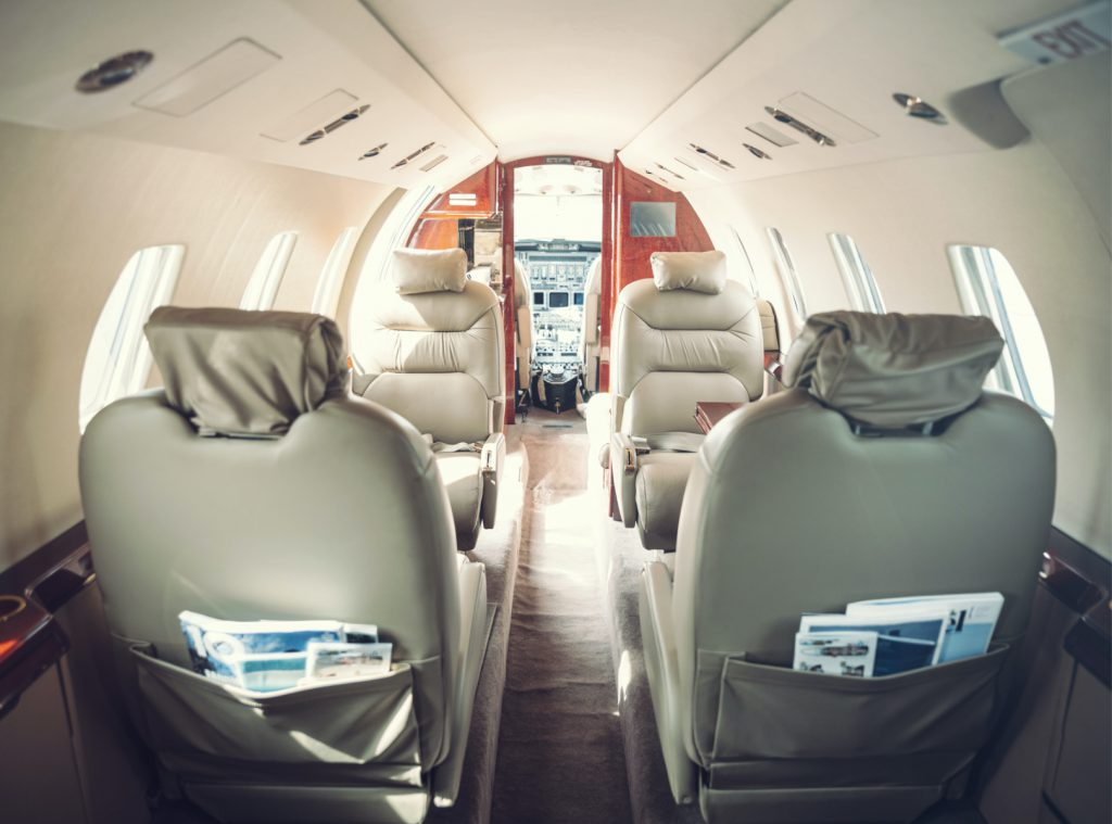 Private Jet Charter Cabin