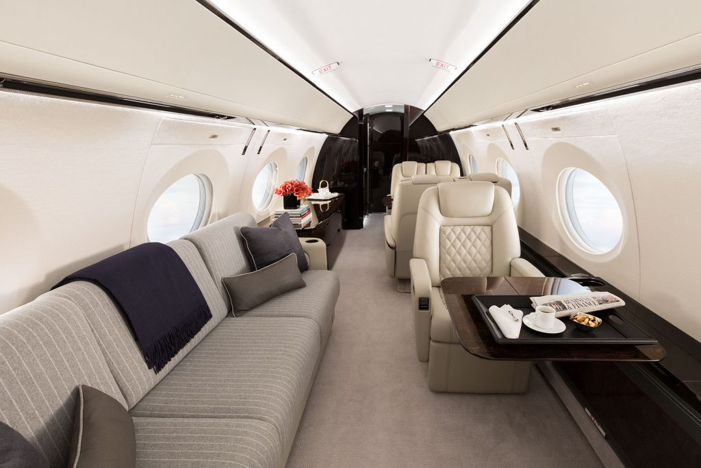 Gulfstream G500 interior.