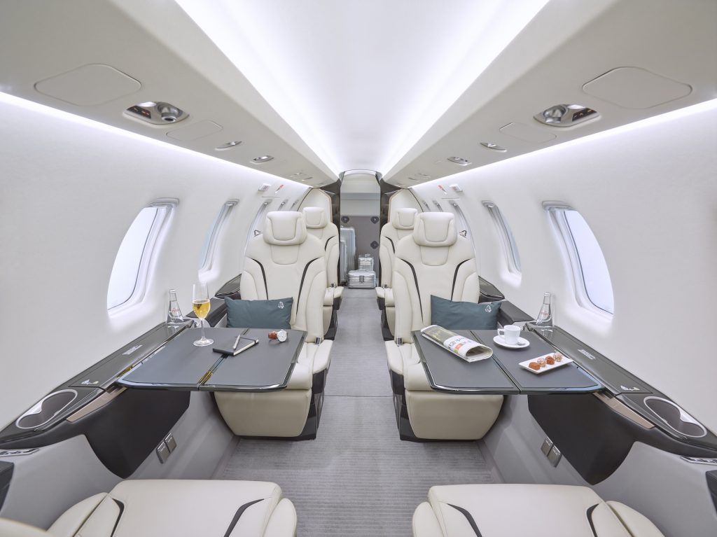 Pilatus PC24 private jet interior