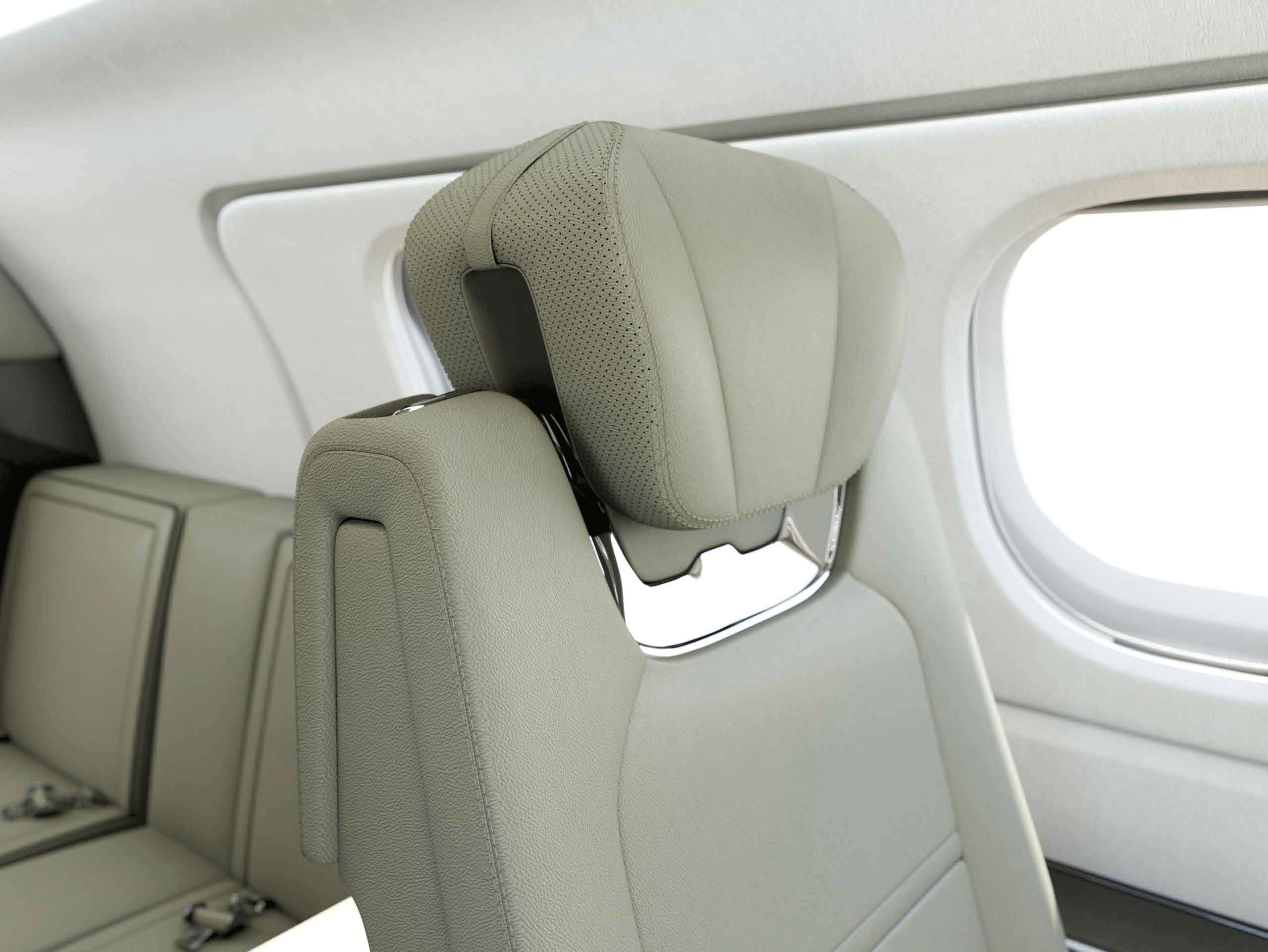 Private Jet Leather Seat